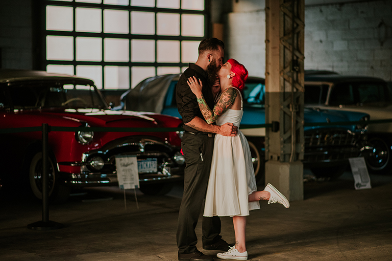 Red and Julian's excellent road trip adventure wedding