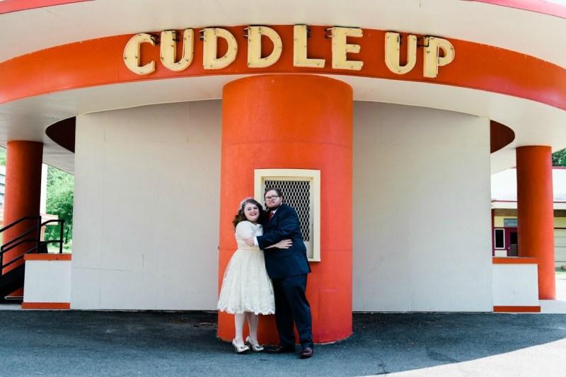 Vintage carnival vibes at this historic amusement park wedding
