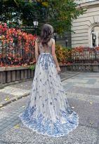 PolinaIvanova blue embroidered wedding dress on offbeat bride