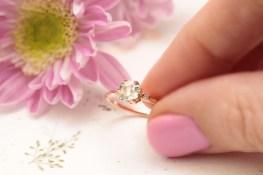 vinnyandcharles green amethyst engagement ring