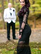 black wedding dress by lacemerry on offbeat bride