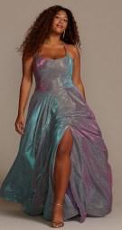 night studio 2139dw plus size irridecent offbeat bride dress from davids bridal