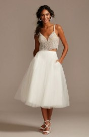 tulle separates midi skirt with pockets offbeat bride wedding dress from davids bridal