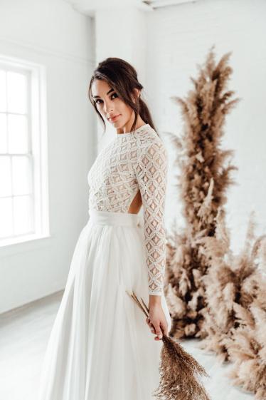 wedding separates wedding bodysuit to wear with wedding skirt on offbeat bride