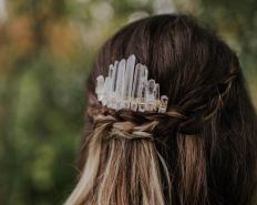Fawn and Sparrow Crystal Crowns on Offbeat Bride (8)