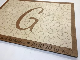 Wooden Letter Puzzle Guest Book by Havoly