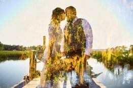 6-luxebylindsay-bride-groom-double-exposure-with-trees-on-dock