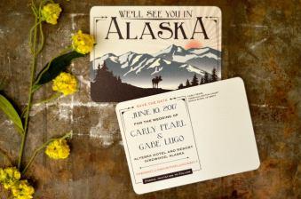 Denali Alaska Wedding Invitations