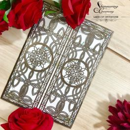 Laser cut wedding invitations by Shimmering Ceremony on Offbeat Bride (9)