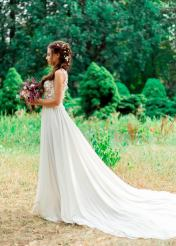 Lily Boho Wedding Gown by Julia Miren on Offbeat Bride