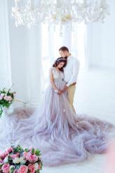 Maternity wedding dress by Julia Miren Dresses on offbeat bride