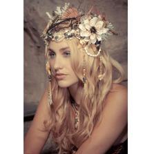Mermaid headdress by KatSwank on Offbeat Bride