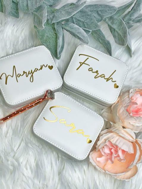 bridesmaid jewelry boxes