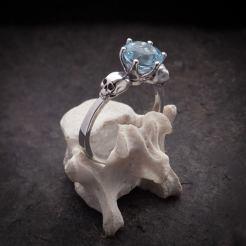 wanda skull ring on offbeat bride