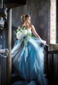 Blue wedding gown by French Knot on Offbeat Bride