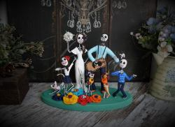 blended family custom goth cake topper by TopTopperShop on Offbeat Bride