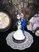 custom goth cake topper by TopTopperShop on Offbeat Bride