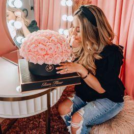 glam fleur pink roses on offbeat bride