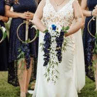 Shieldmaidens slay with dagger bridesmaid bouquets