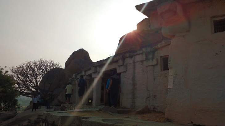 The spot from where Ram shot his arrow to kill Baali: Hampi Temples on Hippie Side