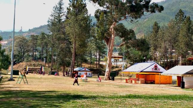 Archery match in Thimphu, Bhutan, Things to do in Bhutan