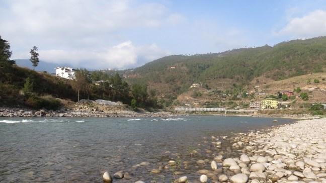 river Puna Tsang Chu, Khuruthang- Township near Punakha, Punakha Dzong, Places to visit in Bhutan,