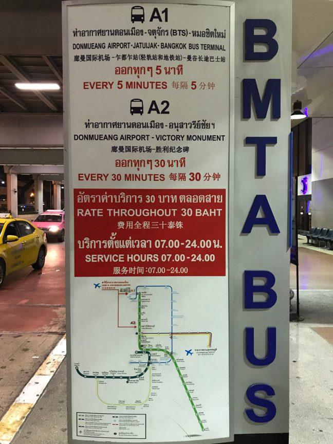 How to get from Don Mueang Airport to Bangkok Hua Lamphong Station/Suvarnabhumi Airport/Pattaya - Bus/Train/Metro/Taxi