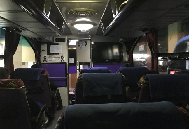 Thailand Bus Booking: Interiors of the bus