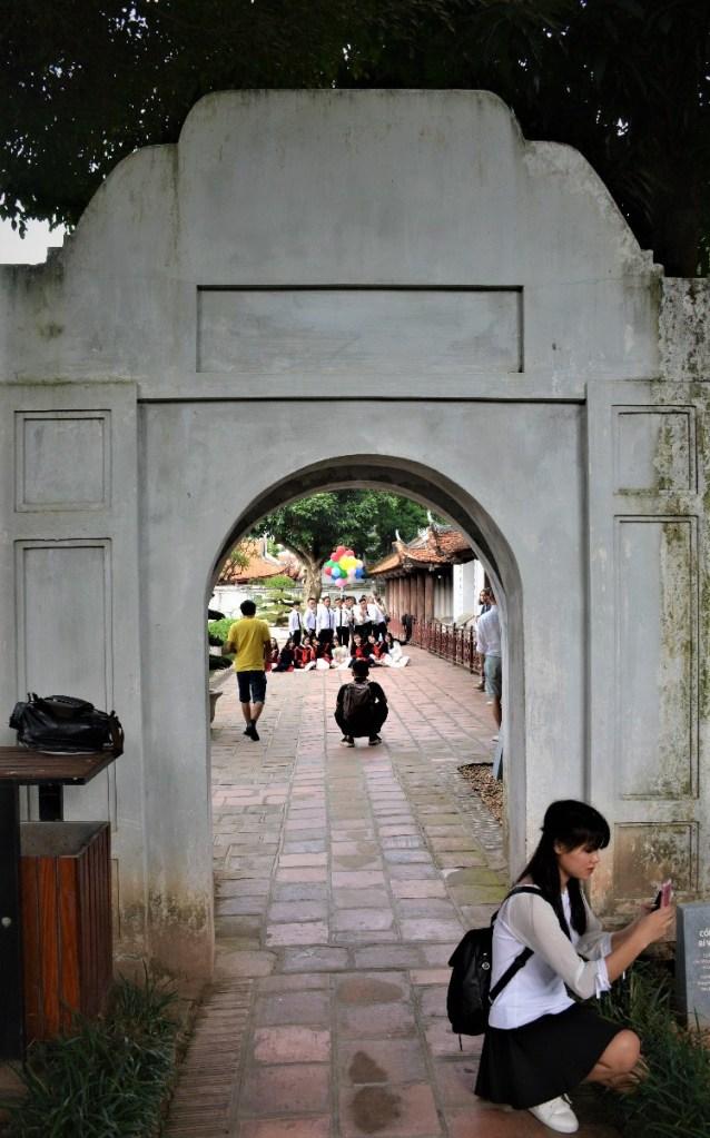 Graduating Students at Temple of Literature Hanoi