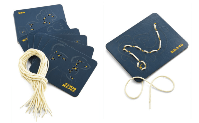 I'd love to individually frame all these Constellation Comfort Lacing Cards.