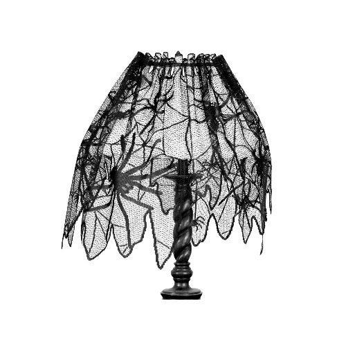 Cover your lampshades with the creepy but elegant lampshade drape.