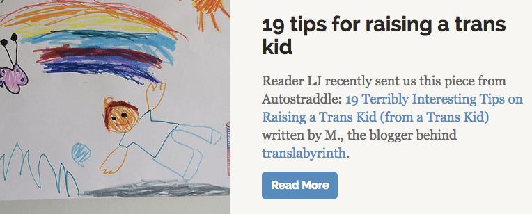 19 tips for raising a trans kid