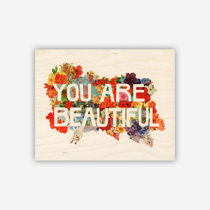 You Are Beautiful print by Etsy seller iolabs