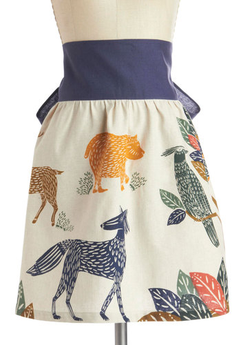 Forest Course Meal Apron -- $35