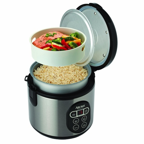 Aroma 4-Cup (Uncooked) 8-Cup (Cooked) Digital Rice Cooker and Food Steamer -- $29.92