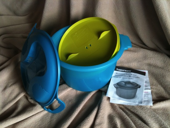 I like this Tupperware Microwave Rice Maker in teal -- $34.99