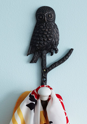 Hang your towels or your bathrobe on this Wise on the Prize Wall Hook -- $17.99