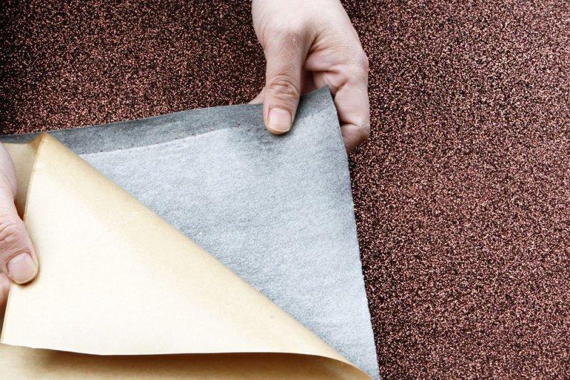 Peel and Stick Self Adhesive Glitter Sand Fabric in bronze