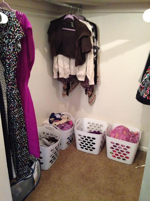 laundry pile baskets