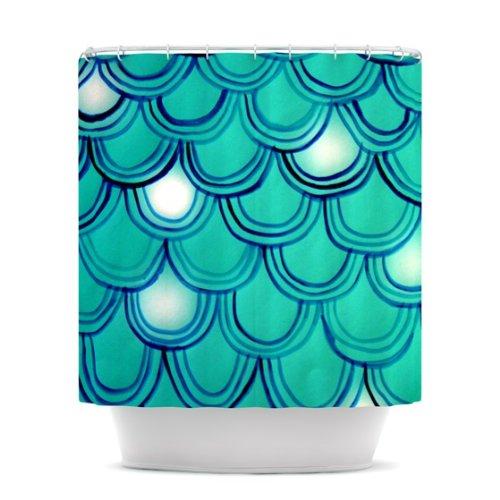 Theresa Giolzetti Mermaid Tail Shower Curtain