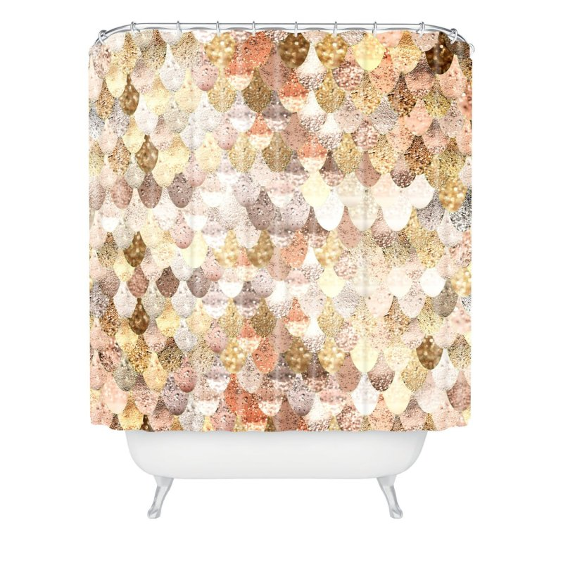 DENY Designs Really Mermaid Gold Shower Curtain