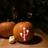 Get scary nerdy with these geeky Jack-o-Lantern stencils!