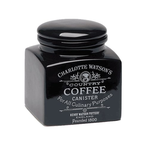 Charlotte Watson Country Collection in Black Square Coffee Canister