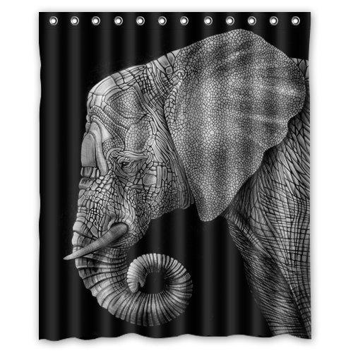 Nymeria Customized Elephant shower curtain