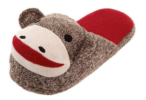 Geeky slippers for everyone as seen on @offbeatbride #geeky #slippers