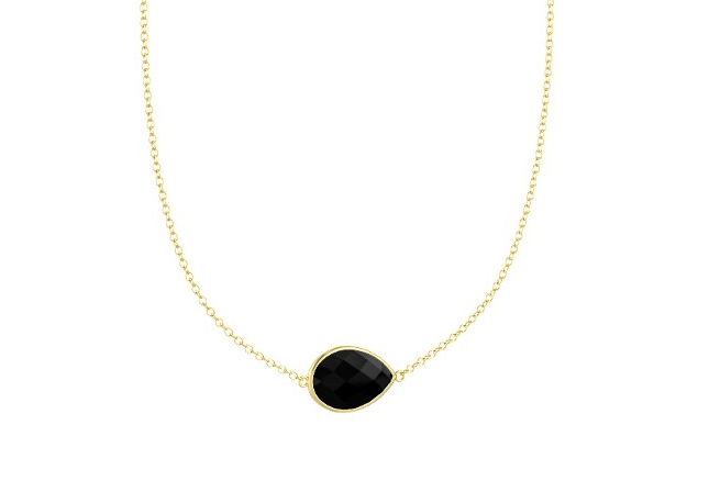 Bonus necklace: I do NOT have one like this, but I wish I did. The Bold East West Pear Necklace with black onyx $160