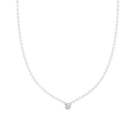 3mm round diamond necklace -- $285