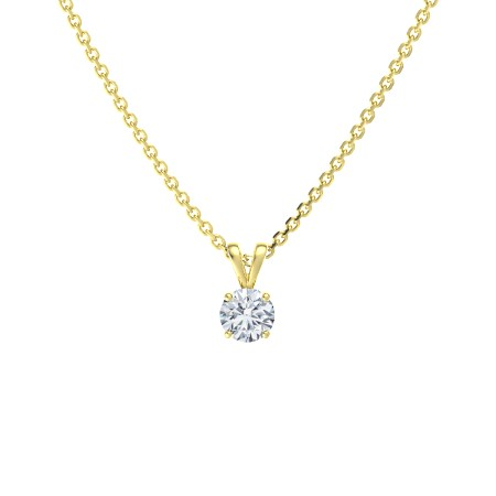 14k gold round diamond pendant necklace -- $2585 (as pictured)