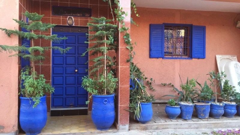 blue door and windows morocco