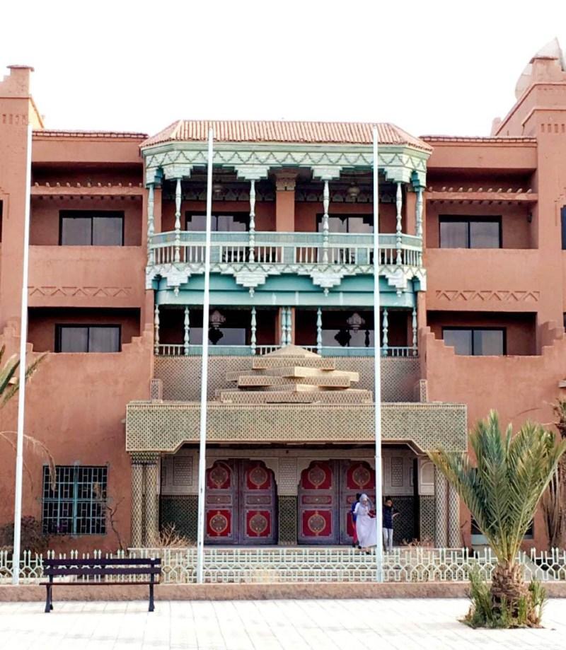 colorful building in ouarzazate